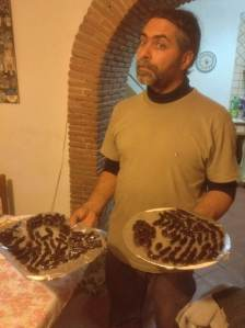 Ciro with some homemade chocolate coated candied peel