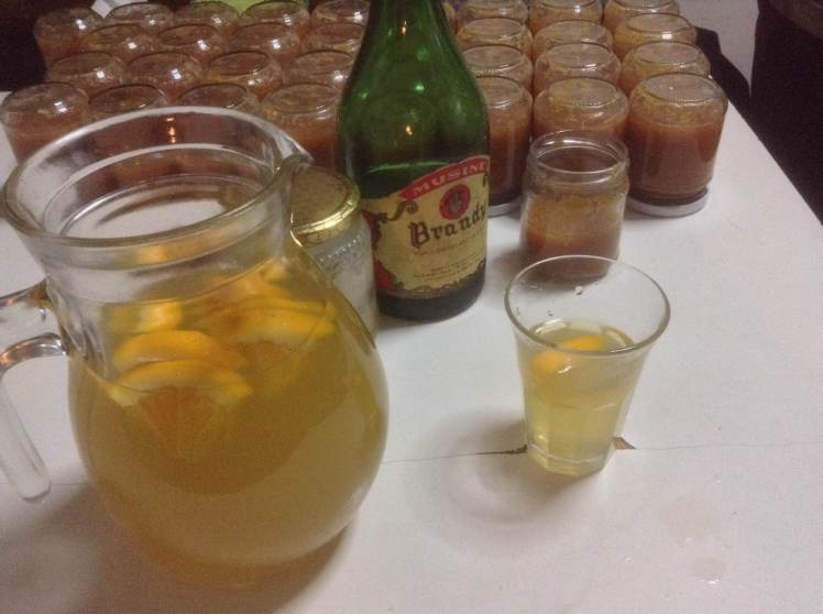 Orange day punch and marmalade