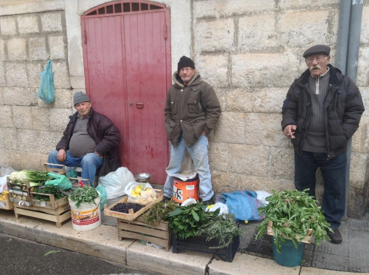 Fresh produce for sale in the streets of Molfetta