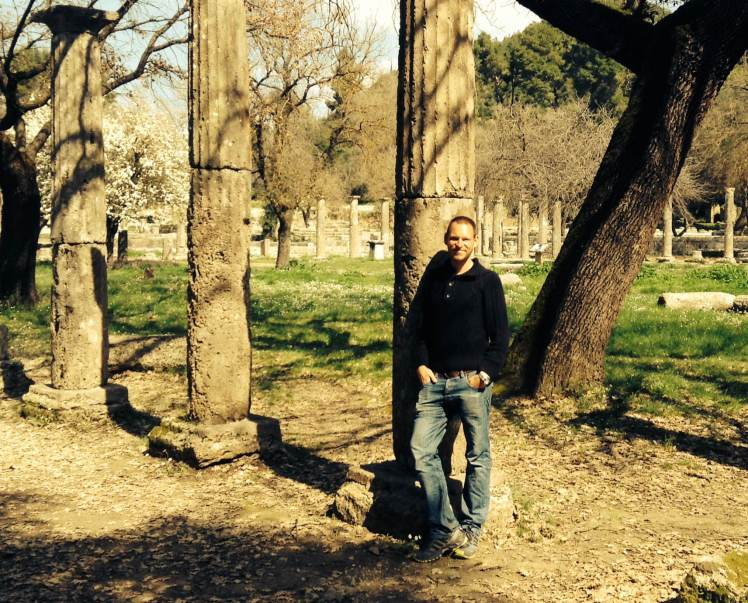 Enjoying the ruins of Ancient Olympia