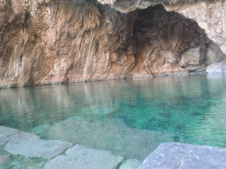 Kaiafas thermal springs, the perfect cure after a day of walking