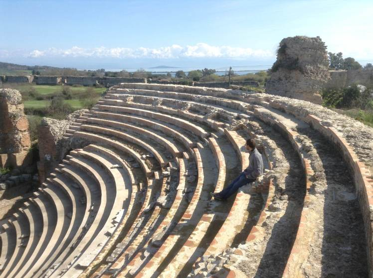 The Odeon at Nicopolis, which i visited in the next few days while staying in Preveza