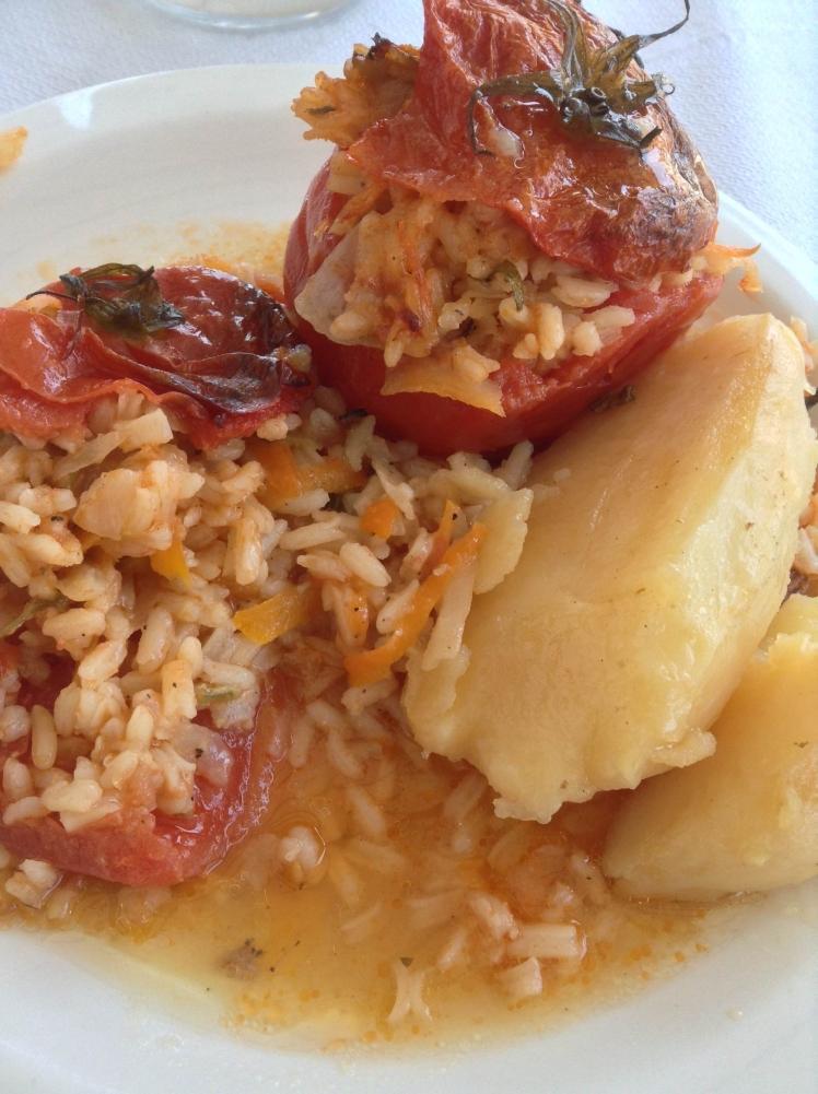 Yemista - stuffed tomatoes