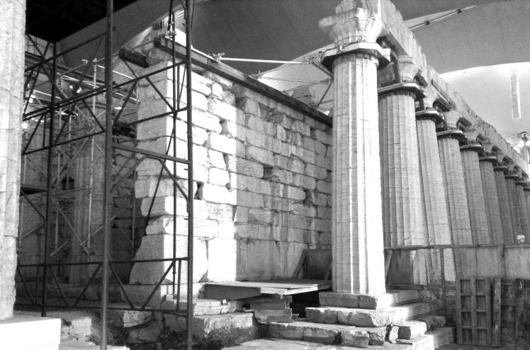 The Temple of Apollo Epicurius on the inside