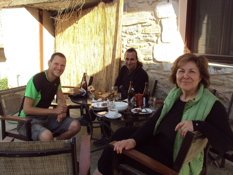 I was stopped and invited to have a drink in Anogia, under the Taygetos mountains