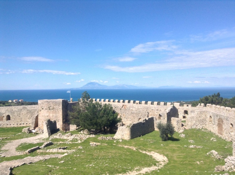 Chlemoutsi castle, with its splendid view