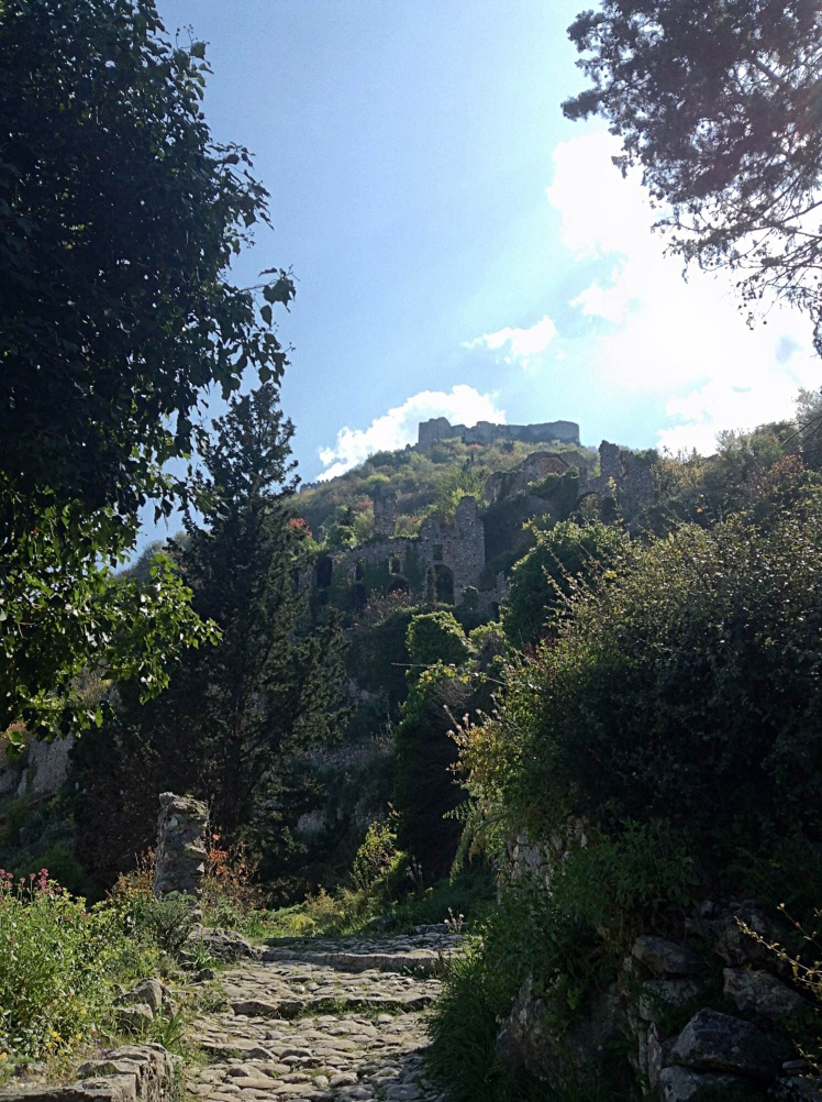 The view to Mystras castle