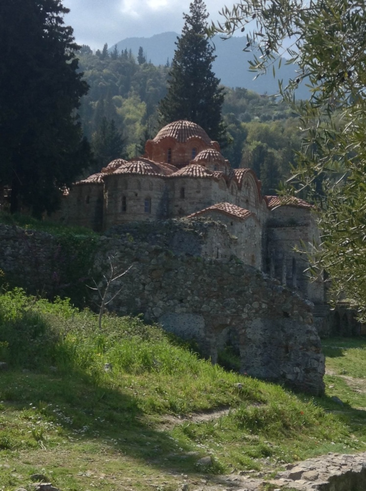 Mystras and one of its many churches