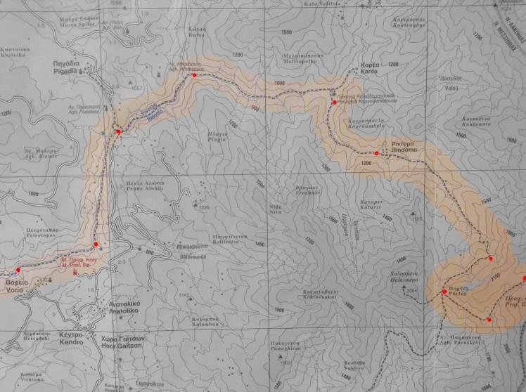 The path along Rindomo gorge