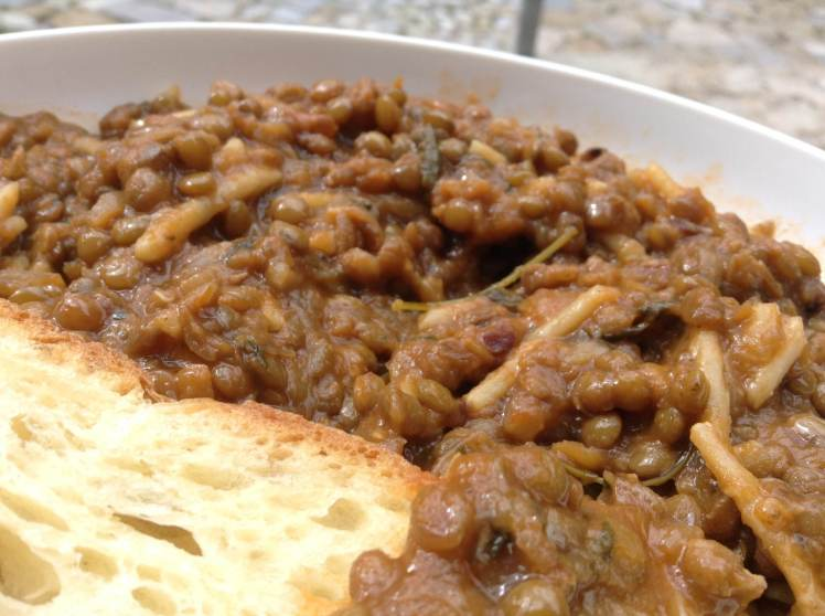 The best bowl of lentils ever!