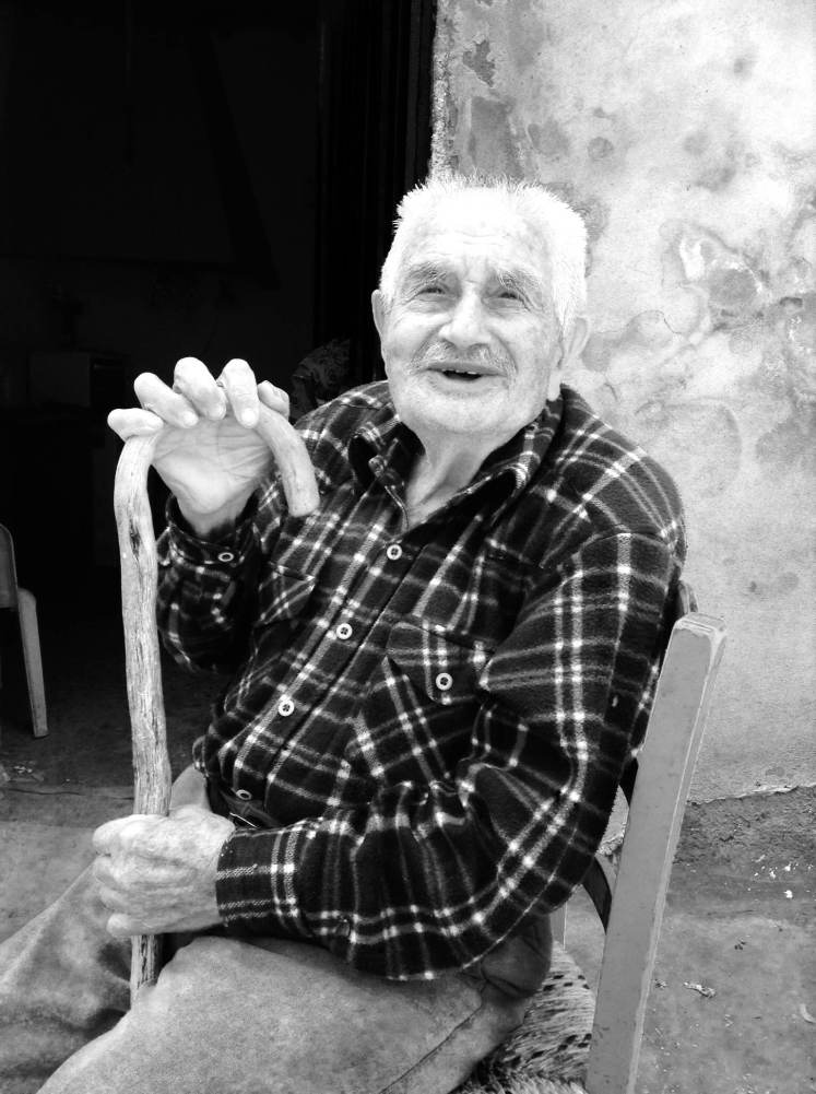 Dimitrios, an old shepherd from the mountains outside Chania. He and his friends were telling me about the Second World War