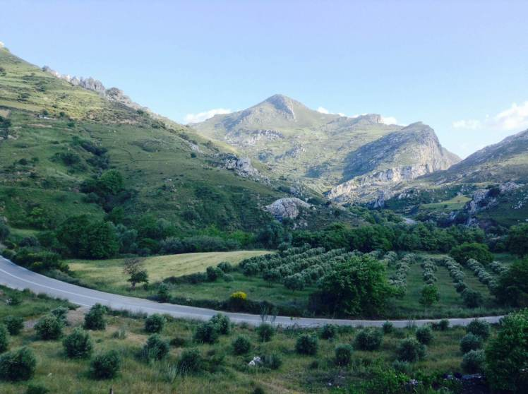 Mountains and green - the west end of the slnad is a lush paradise