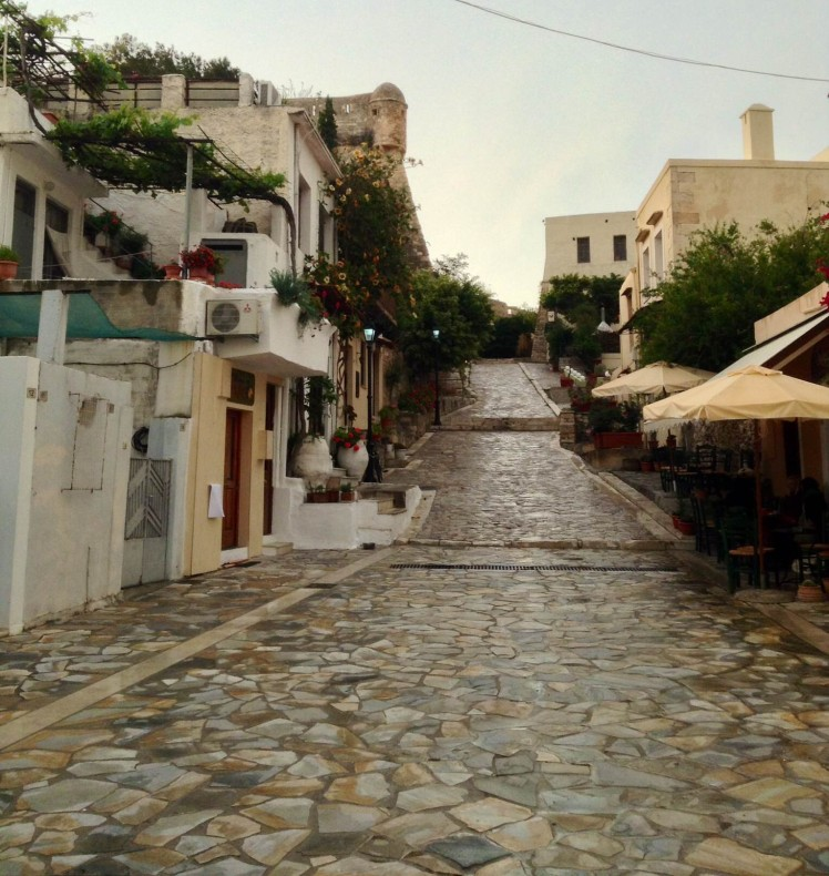 The path to the castle in Rethymno
