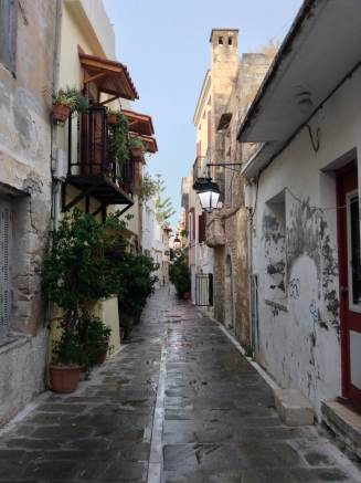 Beautiful old streets of Rethymno
