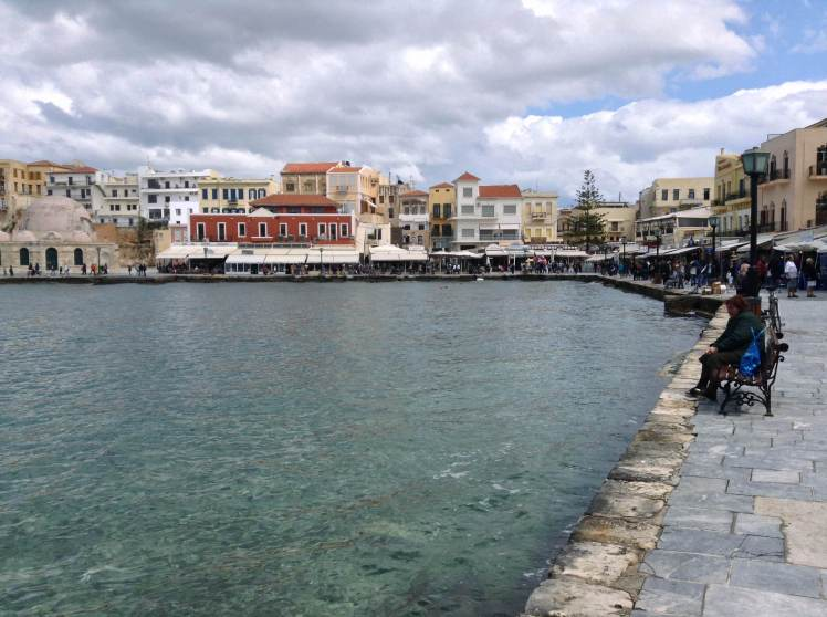 Chania Port area, now a thriving busy tourist centre, but worth the visit