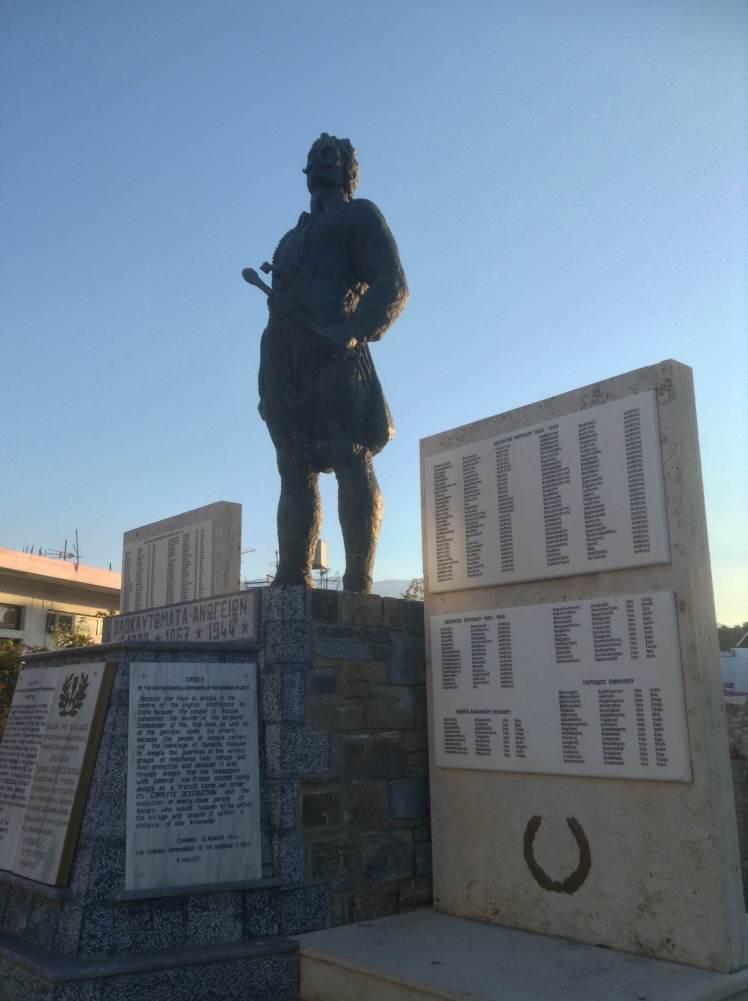 The war memorial in Anogia