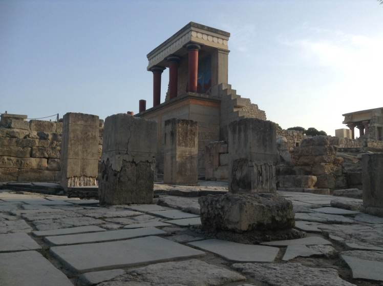 The reconstructed remains of Knossos