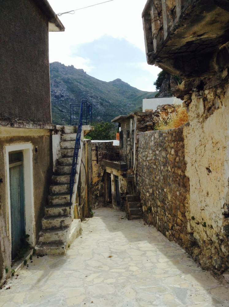 The abandoned houses and streets of mountain villages