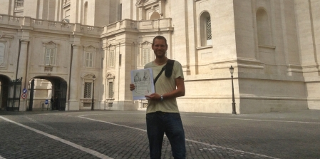 My certificate of Pilgrimage from the Vatican
