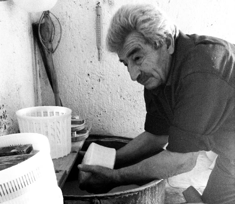 Yanni making cheese