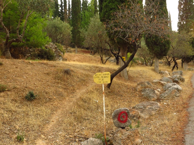 The ancient footpath to Delphi