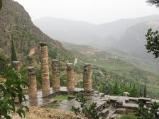 The misty mountains around Delphi