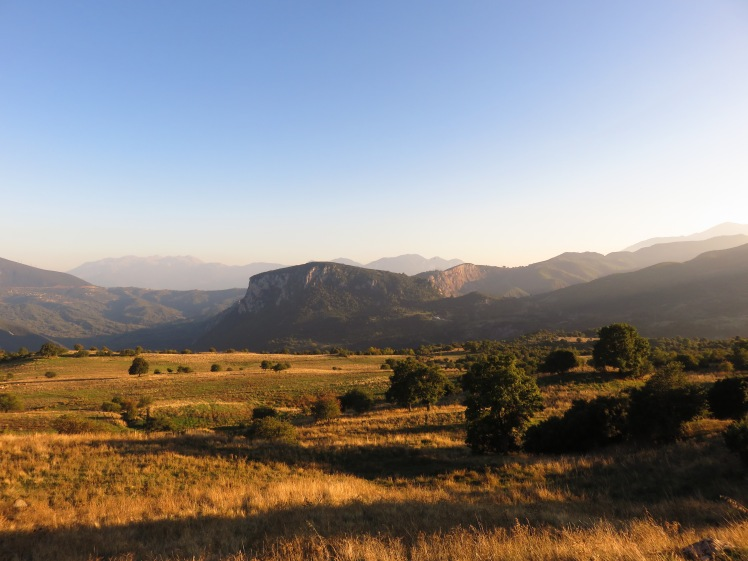 Spectacular landscapes shining in the evening sun
