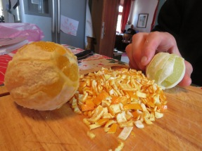 candied peel preparation