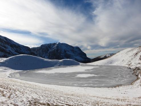 Drakolimni - Dragonlake - covered in Ice