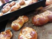 Tsoureki - sweet Easter breads. See the recipe above