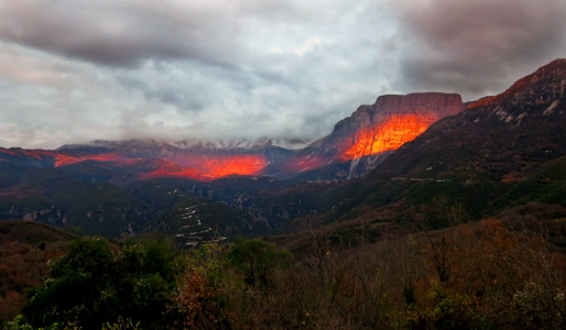 A fire burning in the heart of the mountain
