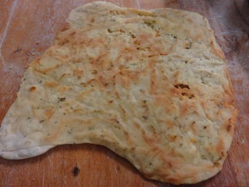 Crunchy, cheesy, rosemary crispbread