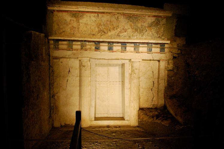 Facade of Philip II tomb, Vergina