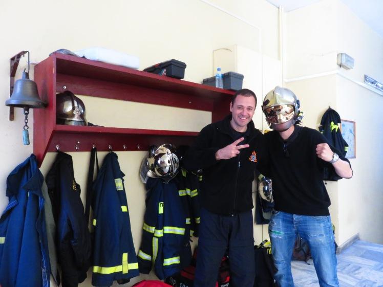Iordanis showed me around the fıre station