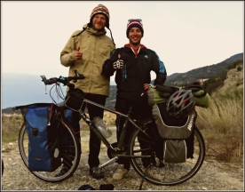 İ met Mark on the road. He`s bıkıng from Chına to Canada, via Africa (www.oneadventureplease.com)