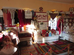A local museum houses traditional clothes, all hand made