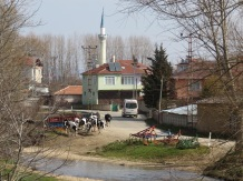 A typical village contrasts modern and traditional life