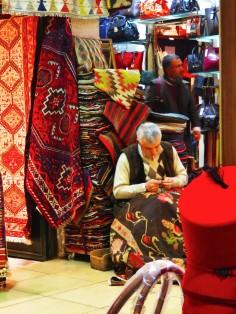 A carpet seller in the Grand Bazaar