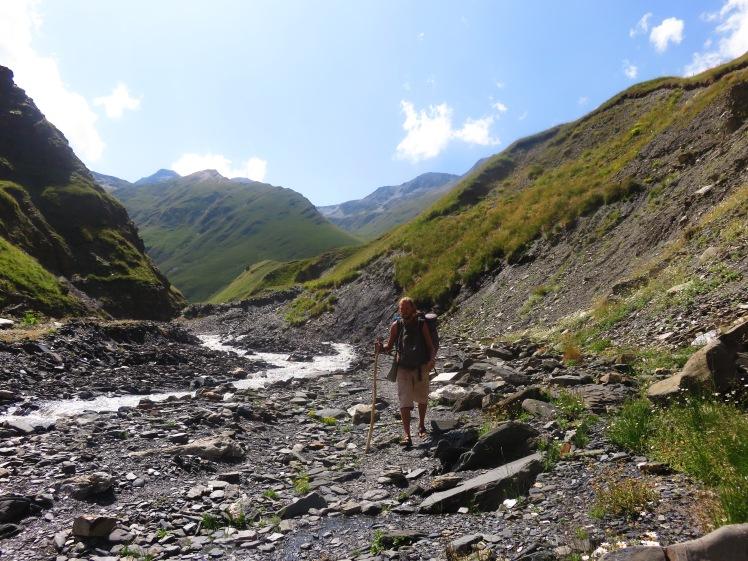 Walking through Georgian Mountains in my LUNAs