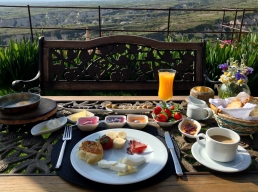 Turkish Breakfast with a view