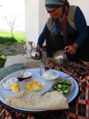 Breakfast in a village