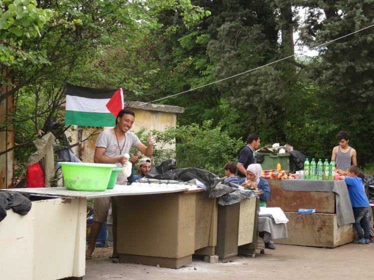 Murat the baker - he was a refugee in Palestine for years (hence the flag). This is a young man with skill and passion who wants to work, to live, to love, to create and produce. What city in Europe could not find this man a home?